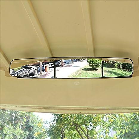 180 Grad 41 9 Cm Extra Breit Panorama Rückspiegel Für Golf Carts Ezgo Yamaha Sport Freizeit