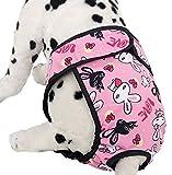 FEESHOW Large Big Dog Breeds Reusable Washable Diaper SZ S-XL Pink Large