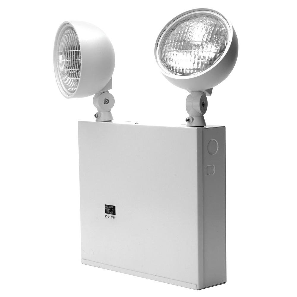 Lithonia Lighting ELT618NY M2 Incandescent Two Head Emergency Lighting Unit, White by Lithonia Lighting