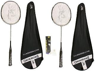 Browning Lot de 2 raquettes de Badminton Oxylite Ti 75 1 Tube de volants Carlton 410