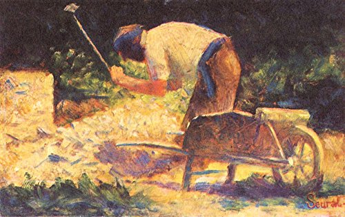 The Museum Outlet - Weed knocking with wheelbarrow by Seurat - Poster Print Online Buy (30 X 40 Inch) (Wheelbarrow Me Near)