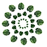 DELONIX Artificial Monstera Leaves,Tropical Leaves Decorations,Palm Leaf for Luau Party Decorations,Jungle Party Decorations