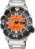 Seiko Automatic Diver Black and Orange Dial Stainless Steel Mens Watch SRP315K2