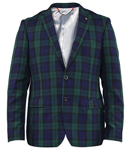 Ex Branded London Check Watch Tartan Jacket 48R