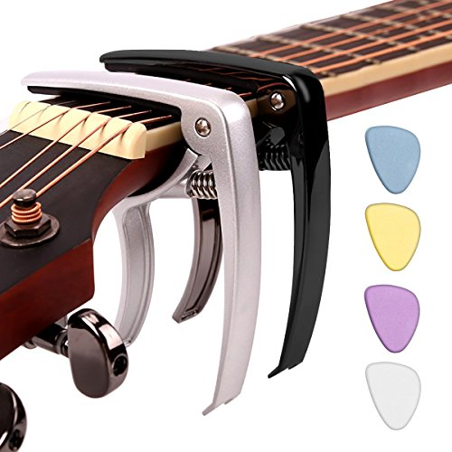 12 Tuners String (Capo Change Tuner Accessory Tool, Zinc Alloy Capo for Acoustic and Electric Guitars, Bass, Banjo, Mandolin, Ukulele, Classical and All Instruments with 6 to 12 strings by STYDDI)