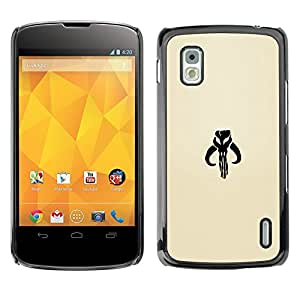 EJOY---Cubierta de la caja de protección la piel dura para el / LG Nexus 4 E960 / --Dracónido
