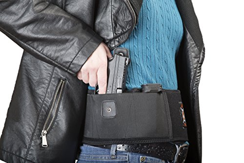 Belly-Gun-Holster-By-Catapult-Strong-Concealed-Carry-Waist-Band-Pistol-Holster-For-Men-Women-Breathable-Steady-Neoprene-Belly-Wrap-For-Carrying-Handguns-Revolvers-Silent-Release-Button