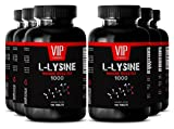 VIP VITAMINS Bodybuilding supplements - L-LYSINE IMMUNE BOOSTER 1000 - Bone strength - 6 Bottles 600 tablets