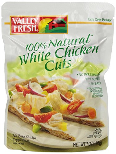 Valley Fresh Premium White Chicken Cuts, 7-Ounce Pouches (Pack of (Fresh Chicken)