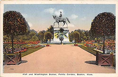 Mall & Washington Statue in Public Garden Boston Massachusetts - In Malls Boston