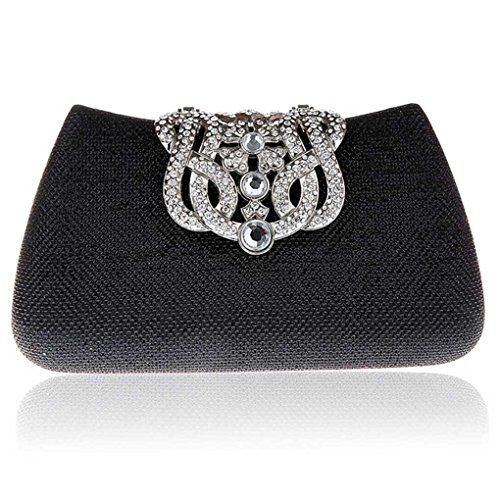Bag Clutch Handbag Evening For Messenger gold Kaxidy Black Women Bag qZnHx4q15d