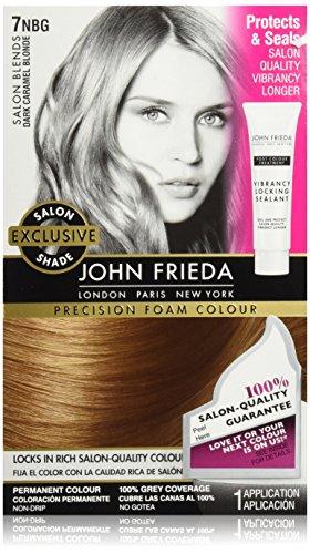 John Frieda Precision Foam Colour, Dark Caramel Blonde, 7NBG, 1 - Blonde Colour Hair