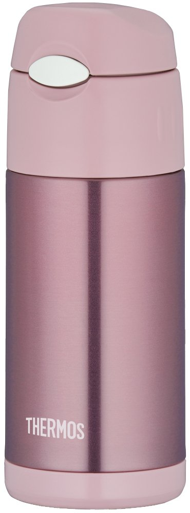 Thermos Vacuum Insulation Straw Bottle [One-touch Open Type] 0.36l Pearl Pink Ffi-401 Prp