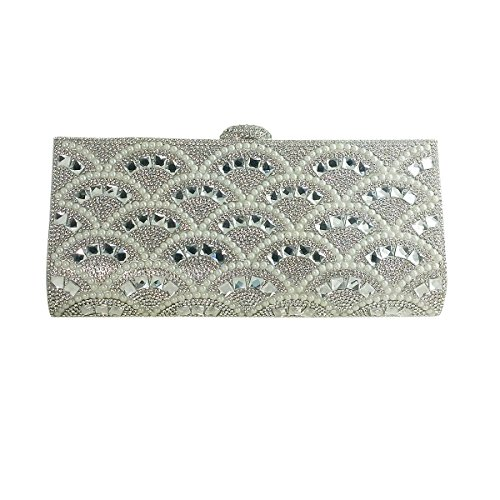 Silver Pearls and Evening Rhinestone Clutch Ix5UZ4wIq