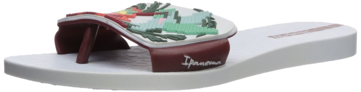 Ipanema Women's Nectar Slide Sandal B075YVFZ3L 9 B(M) US|White/Burgundy