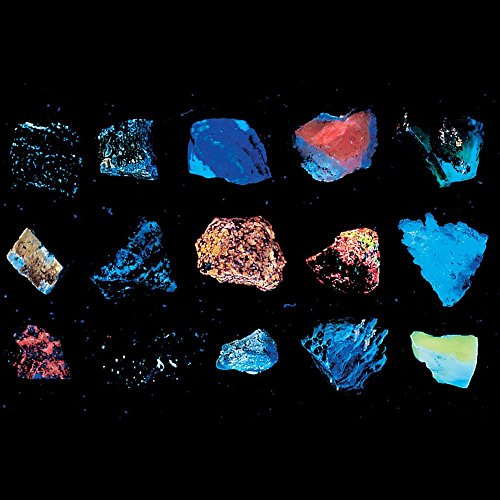 Long-Wave Fluorescent Minerals Collection