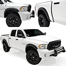 E-Autogrilles 20291 Black Fender Flare (Pocket Rivet Style Front + Rear for 09-15 Dodge Ram 1500)