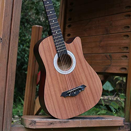 SUNXK 38 Pulgadas Principiante botón de Cuerdas de la Guitarra ...
