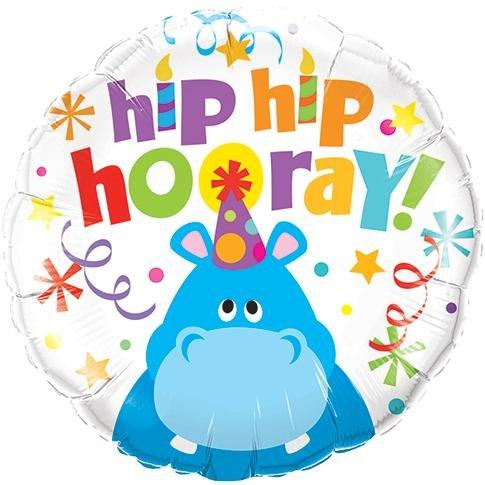 (Qualatex Foil Balloon 026481 Hip Hooray Hippo, 18