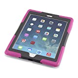 Caseiopeia Keepsafe Kick Rugged Heavy Duty iPad Air 2 Case with Kickstand and Screen Protector Designed for Home and School (KSK-IPA2-PNK)