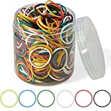 """Rubber Bands 800 Pcs 2.5cm 1"""" Small Rubber Bands 6 Colors Assorted Mixed Rainbow Colorful Rubber Bands for Office School Home Strong Elastic Band Loop Office Supplies"""