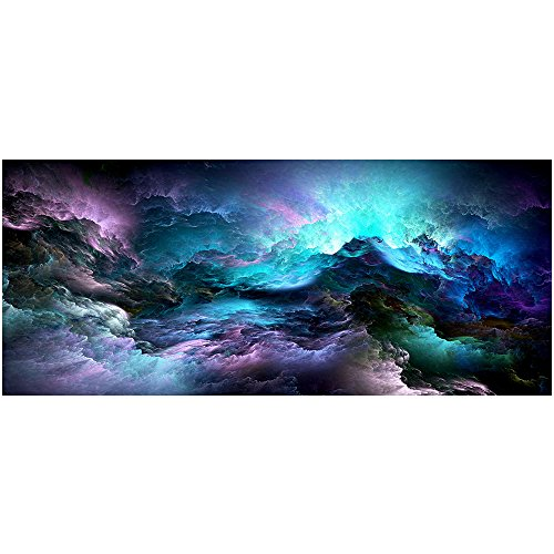 Fanghui Gaming Mouse Pad Colorful Cloud Anti-Slip Rubber Bas