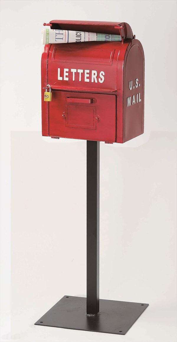 セトクラフト アメリカンヴィンテージ U.S.MAIL BOX SI-2855-RD-3000 『郵便ポスト』 レッド B01BQAITTG 23330