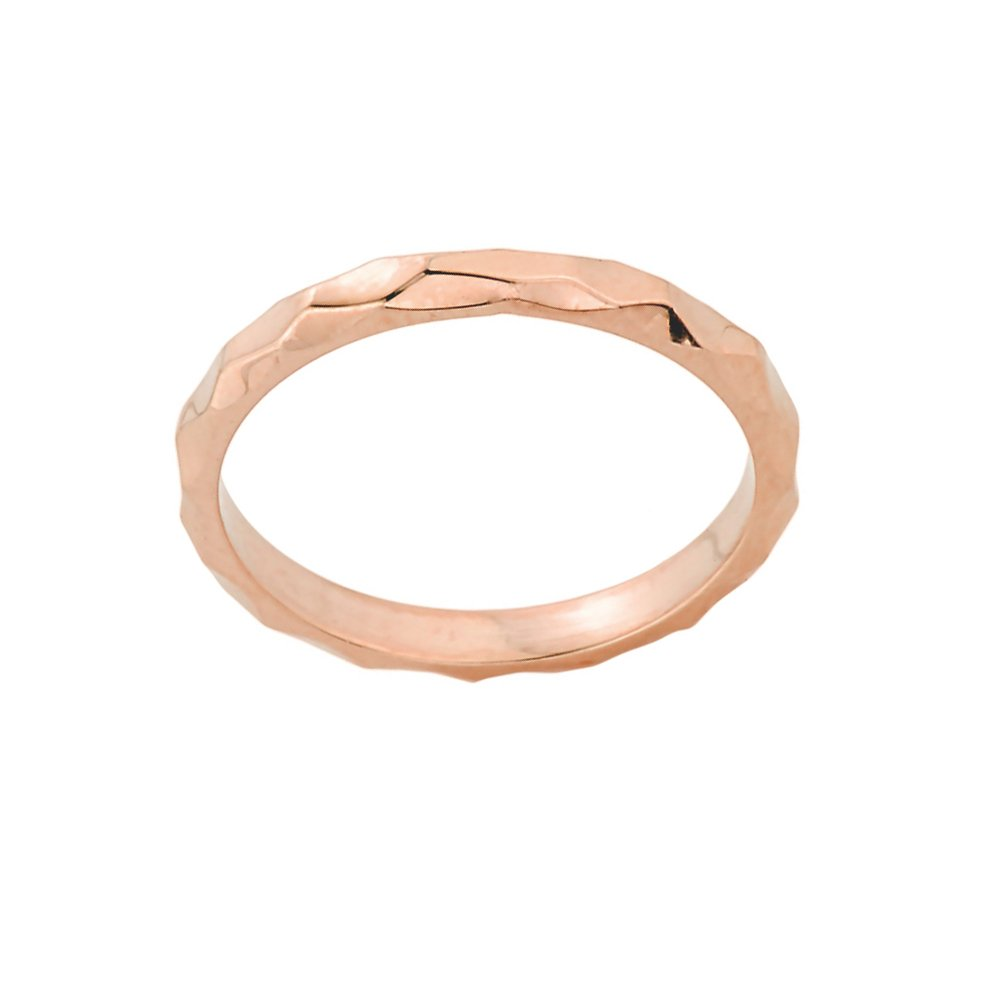 Stacking Fine 14k Rose Gold Sizable Spike Band Toe Ring, Size 8