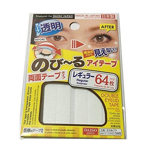 DAISO Natural Double Eyelid Clear Tape  Regular 64pcs Bandage type