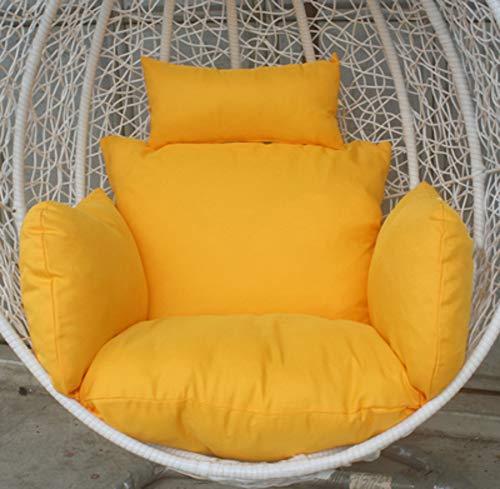 Chair Single Canvas Cushions - DULPLAY Hanging Basket Chair Cushion,Single Soft Cradle Chair Cushion Rattan Chair mats Detachable Chair Pads Hammock-B