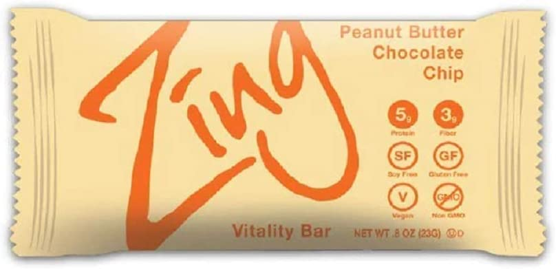 Zing Plant-Based Protein Bar Minis Peanut Butter Chocolate Chip, 18 Count 100 Calorie Cookie Dough 5g Protein and 3g Fiber Vegan, Gluten-Free, Non-GMO Created by Professional Nutritionists