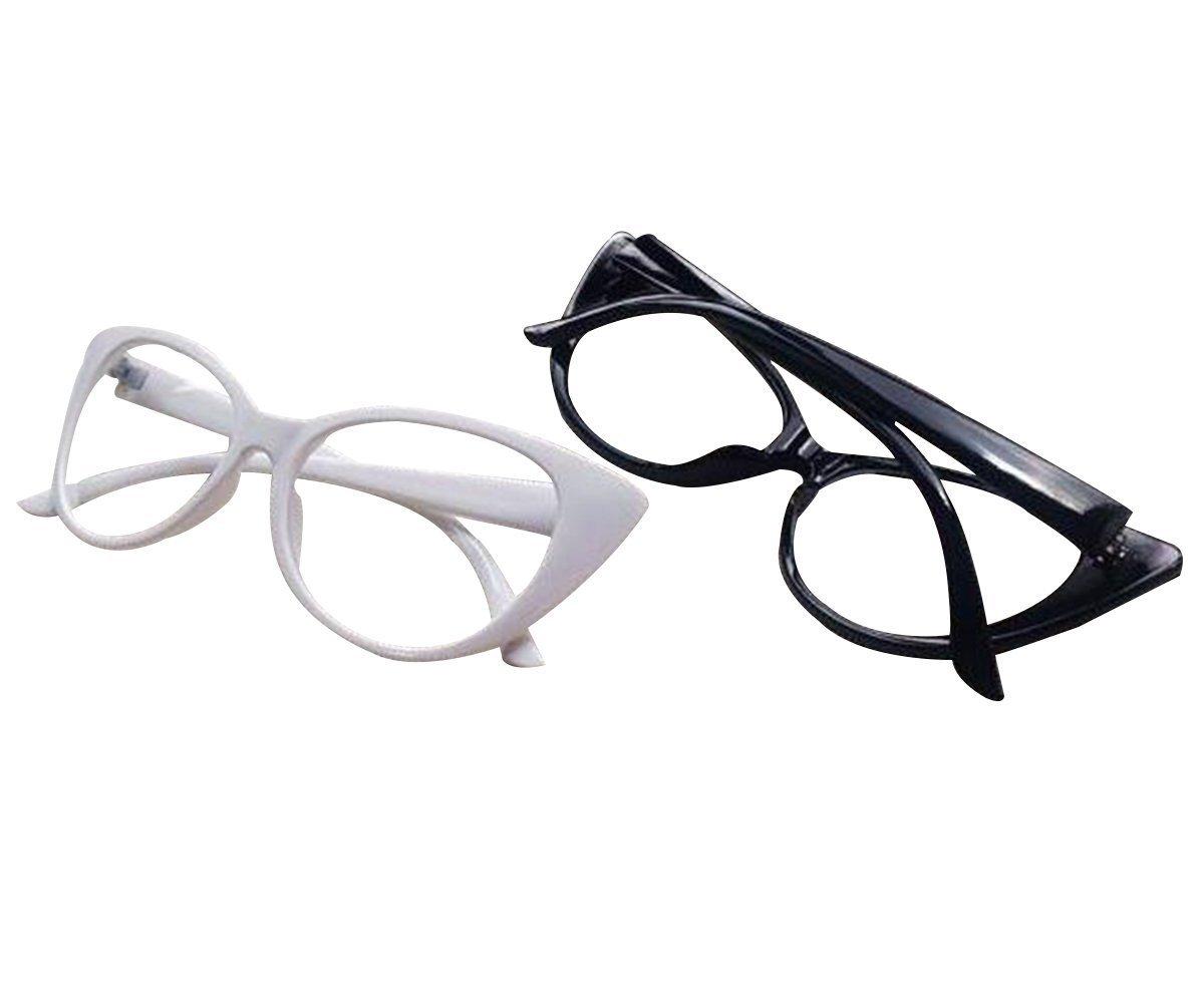 03b67da986354 Amazon.com  Aimeart Retro Vintage Women s Eyeglasses Cat Eye Glasses  Plastic Frame NO LENS