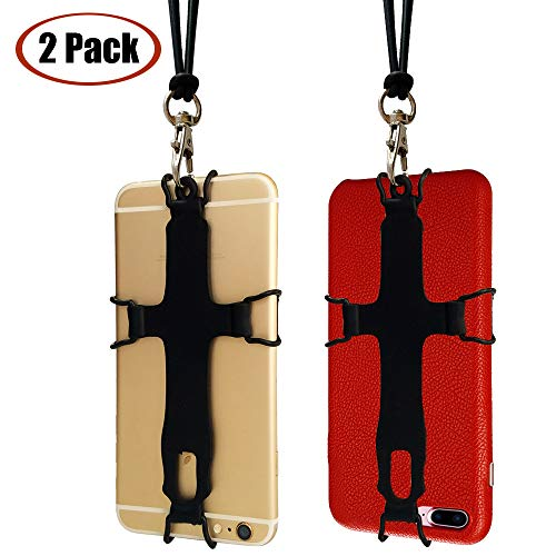 Cell Phone Lanyard Neck Strap Silicon TOOVREN iPhone Necklace Phone Case Strap with Detachable Lanyard for Samsung Galaxy S8/S7/S5/ Note6/ iPhone 5c/6s/7/8 Plus/X/Xs Max/XR/LG/Google Pixel(2 pcs)