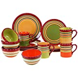 Certified International 89090 Hot Tamale 16 pc. Dinnerware Set, Service for 4, Multicolored Review