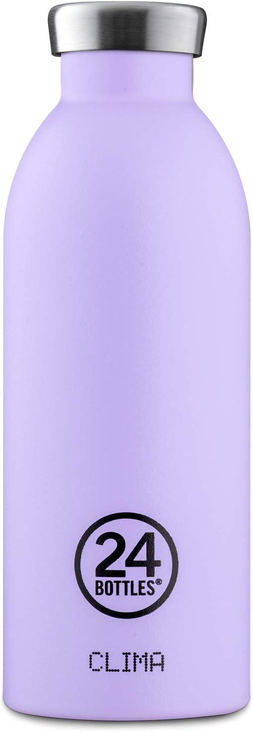 24Bottles Clima bidón de agua 500 ml Uso diario Lila Acero inoxidable - Bidones de agua (500 ml, Uso diario, Lila, Acero inoxidable, Erica, Adulto)