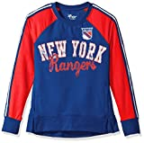 ny rangers crewneck - NHL New York Rangers Women's Perfect Pitch Pullover Crewneck Jacket, Small, Navy/Red