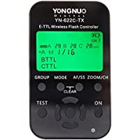 Yongnuo YN-622C-TX 7-Channel E-TTL Wireless Flash Controller for Canon E-TTL / E-TTL II Cameras, 2.4GHz Frequency, 1/8000sec Sync Speed