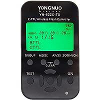 Yongnuo YN-622C-TX 7-Channel E-TTL Wireless Flash Controller for Canon E-TTL / E-TTL II Cameras, 2.4GHz Frequency, 1/8000sec Sync Speed