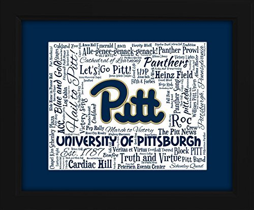 University of Pittsburgh (Pitt) 16x20 Art Piece - Beautifully matted and framed behind glass ()