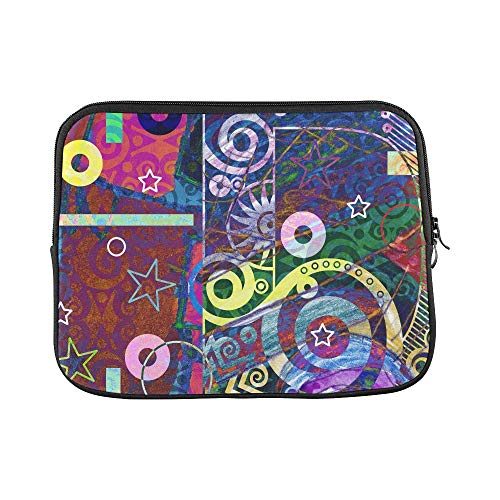 Design Custom Abstract Digital Painting Colorful Graffiti Colla Sleeve Soft Laptop Case Bag Pouch Skin for MacBook Air 11