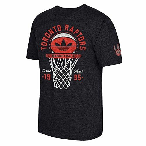 Toronto Raptors NBA Adidas Men's Black Premium Tri-Blend T-Shirt (L)