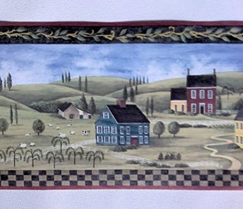 Primitive Countryside Country Wallpaper Border – MCB5700 … (Wallpaper Country)