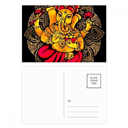 Buddhism Religion Buddhist Elephant Postcard Set Birthday Thanks Card Mailing Side 20pcs