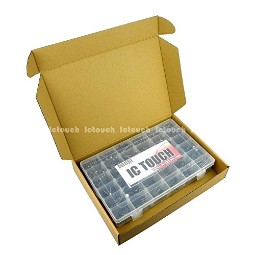 Ictouch 36value 1000pcs Electrolytic Capacitors Assortment