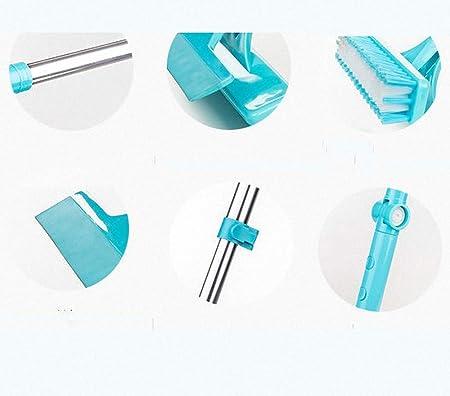 Fz Future Wasserschieber Bodenabzieher Abzieher Dusche Fensterabzieher Mit Teleskopstiel Mit Beweglichem Gelenk 180 Für Sauberes Holz Glas Fliesen Wasser Haar Staub Blau Küche Haushalt