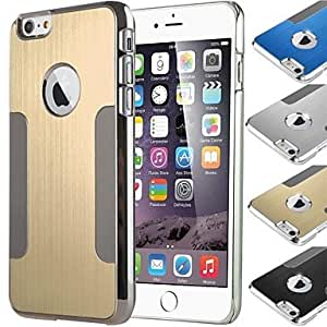QHY BIG D Metal Blade Pattern Back Cover for iPhone 6 Plus(Assorted Color) , Black