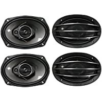 4) New PIONEER TS-A6964R 6x9 3-Way 800W Car Speakers