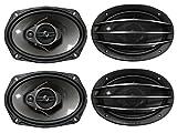 4) New PIONEER TS-A6964R 6x9'' 3-Way 800W Car Speakers