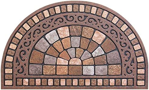 Trafficmaster Half Round Stone 18 in. x 30 in. Door Mat 1, 18 in. x 30 in.