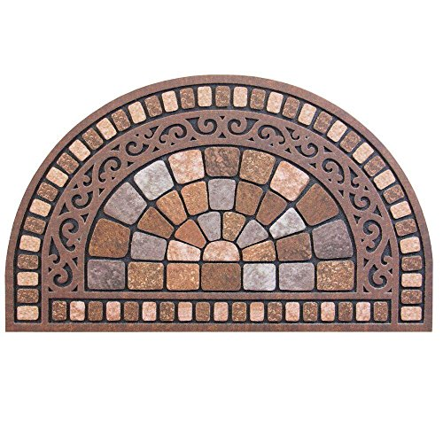 - Half Round Stone 18 in. x 30 in. Door Mat